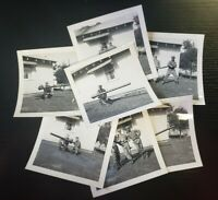 Military Men Posed With M20 75mm Recoilless Rifle Photograph Lot (D1)