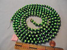 "Christmas Garland Mercury Green 90"" Long 7/16"" Beads 10018 Vintage"