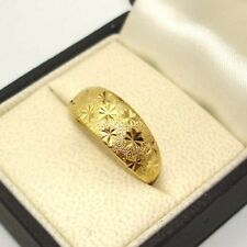 Ring Adjust 8Mm Gf Fashion Jewelry Charm 24K Yellow Gold Filled Men/Women Carved