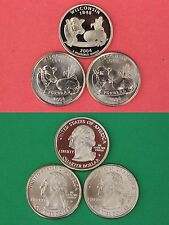 2004 D P S Wisconsin State Quarters From Proof/ Mint Sets Flat Rate Shipping