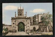 Castle Gate Bishop Auckland 1950's ? Postcard Co Durham ~ LOVELY SHADES