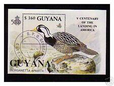 0661++GUYANA   BLOC  OISEAUX  N°  4