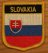 SLOVAKIA Shield Country Flag Embroidered PATCH Badge P1