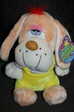 Fun Street NWT Pink Hair Puppy  Dog  Stuffed Animal Lovey Yellow Purple Clothes