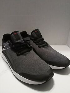 Puma Men's Shoe Black & Gray Size 11.5 Optimal Comfort Soft Foam