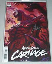 Absolute Carnage #1! (2018) Artgerm Variant! Signed-Stegman & Artgerm! NM! COA!