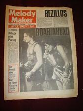 MELODY MAKER 1978 AUG 26 JIMMY PURSEY SHAM 69 STEVE HILLAGE REZILLOS STRANGLERS