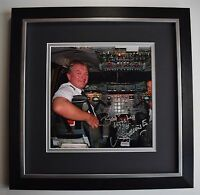 Mike Bannister SIGNED Framed LARGE Square Photo Autograph display Concorde COA