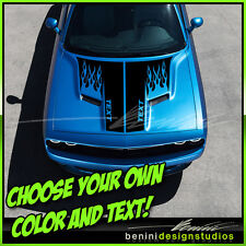 2015 and up Dodge Challenger R/T SRT8 Scat Pack Hood Stripes Graphics Decals 5