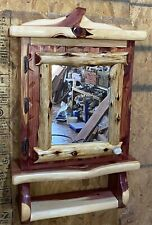 RED CEDAR OF OKLAHOMA Rustic Medicine Cabinet Handmade/ With Mirror & 4 Shelves