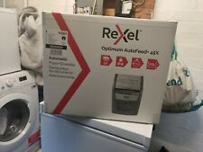 More details for rexel optimum autofeed 45x 45 sheet auto-feed p4 cross cut home office shredder