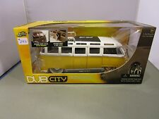 JADA 1/24 DUB CITY OLD SKOOL YELLOW AND WHITE 1962 VW BUS WITH WHITEWALLS NEW
