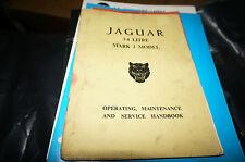 JAGUAR 3.4 LITRE MARK 2 MODEL OPERATING, MAINTENANCE & SERVICE HANDBOOK