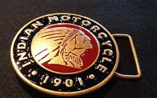 Genuine Indian Motorcycle Mens Circle Buckle With Gift Box Premium Brass
