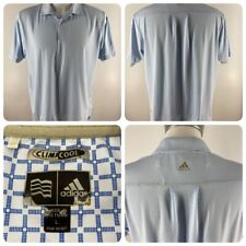 adidas Mens L Large ClimaCool Lt. Blue Golf Polo Shirt Edgewater Golf Course