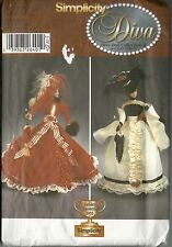 "SIMPLICITY #5702 DIVA DOLL COLLECTION II 11-1/2"" FASHION DOLL CLOTHES NEW UNCUT"