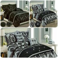 New 3Pcs Modern Duvet Cover Bedding Set + Pillowcase Double King Super King