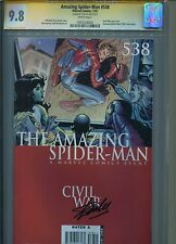 Amazing Spider-Man #538 CGC SS 9.8 Signed by STAN LEE Civil War AMS #106 swipe