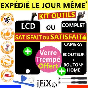 ECRAN LCD /COMPLET VITRE TACTILE IPHONE 6 6S 7 8 PLUS SE NOIR BLANC SUR CHÂSSIS
