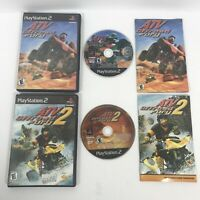 ATV: Off Road Fury 1 & 2 PS2 Game Bundle Lot Of 2  Complete PlayStation 2 Sony