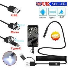 USB Endoscopio Boroscopio Snake Inspección Cámara Android teléfono móvil de tipo C 1-5M