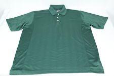 Greg Norman Men's GTech Green Short Sleeve L Large Golf Polo Shirt