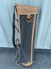 Vintage Westchester Black Canvas & Brown Faux Leather Golf Carry Bag - CLEAN!!!