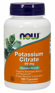 Now Foods Potassium Citrate 99 mg - 180 Capsules
