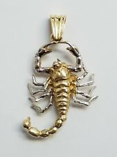 14 KARAT YELLOW GOLD SCORPION PENDANT  , 8.1 GRAMS