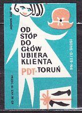 POLAND 1964 Matchbox Label - Cat.Z#496V,  PDT - The General Store - Torun.