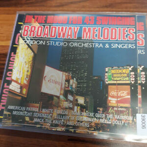 STUDIO LONDON ORCH. : In The Mood For 43 Swinging  Broadway Melodies > VG (2CD)