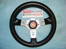 FIAT 500 F/L/R VOLANTE SPORTIVO A 3 RAZZE LUISI ARGENTO + CLACSON FIAT NIBBIO 32
