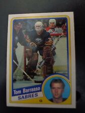 Tom Barrasso 1984-85 #18 Rookie Hockey Card NM Condition Buffalo Sabres