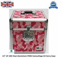 "2 X NEO Flight DJ Carry Case to Store 100 LP 12"" Vinyl Record CAMO PINK TOUGH HQ"