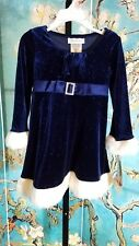 NWT Bonnie Jean Velvety Glitter Santa Dress, Size 3T, Retail $46.00