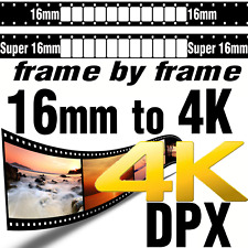 Super 16mm Movie Film to 4K UHD DPX File Sequence HDR Scanning Transfer SERVICE