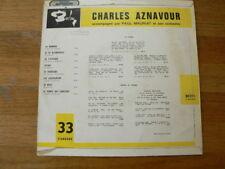 LP RECORD 10 INCH CHARLES AZNAVOUR PAUL MAURIAT BARCLAY 80211S LA MAMMA ET POURT