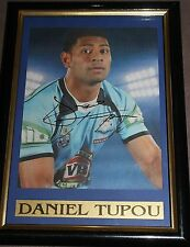 DANIEL TUPOU~*~SIGNED & Framed~*~NSW BLUES & ROOSTERS + COA