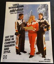 RARE 1991 SKI-DOO SPORTSWEAR CLOTHING BROCHURE SINGLE PAGE 2 SIDED (932)
