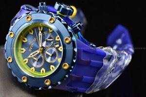 Invicta Men's 52mm SubAqua Triple Blue Label Silicone Strap chronograph Watch