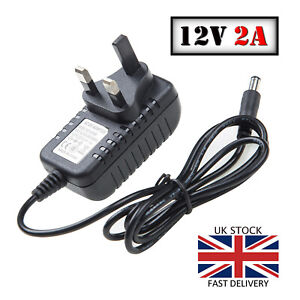 12V 2A AC/DC UK Power Supply Adapter Safety Charger For LED Strip CCTV Camera