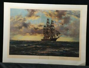 The Tall Ship - Clipper Kaisow by Montague Dawson, signed and stamped PRINT