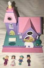 COMPLETE Vintage 1993 Polly Pocket 'Light-Up' Wedding Chapel/Church - Pollyville