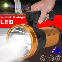 LED Handheld Spotlight Torch Rechargeable Camping Hunting Flashlight Spot Light
