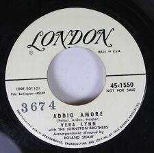 Pop Promo 45 Vera Lynn - Addio Amore / Oui sur Londres