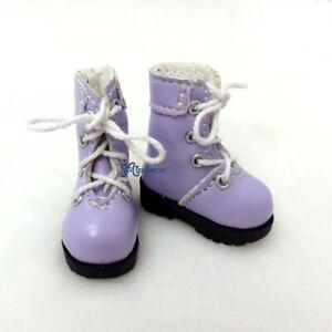 SHP002PUE  Mimiwoo 1/6 Bjd Doll Shoes Blythe PU Leather Medium Boots PURPLE