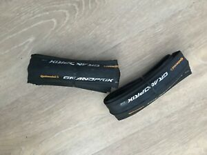 Pair of Continental Grand Prix tyres. 23mm x 700c Road Tyres