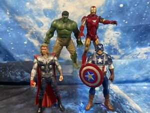 """The Avengers Marvel Detailed Figure Bundle - 4x Toy Heroes - Collectable Rare 8"""""""