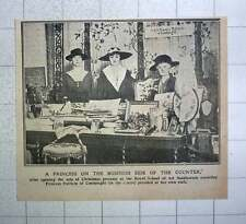 1917 Royal School Of Art And Needlework Stall Run By Princess Patricia Of Connau