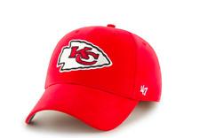 368615e24 NFL Kansas City Chiefs Adult OSFM  47 Brand MVP Adjustable Hat